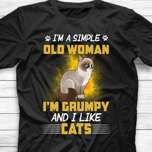 I Am A Simple Woman And I Like Cats Shirt