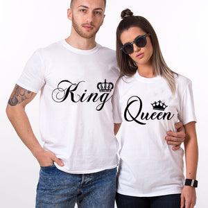 Valentines King and Queen Couple T SHIRT