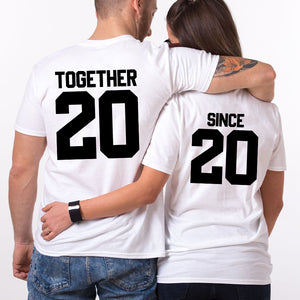 Valentines Together Since Couple T SHIRT