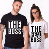 Valentines The Real Boss Funny Couple T SHIRT