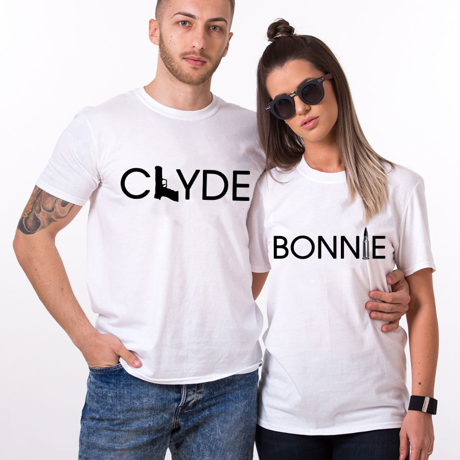 Valentines Bonnie Clyde Couple T SHIRT