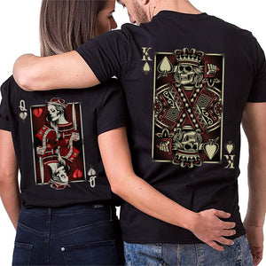 Valentines King Queen Couple Tshirt
