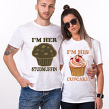 Valentines Studfin Cupcake Couple Funny Tshirt