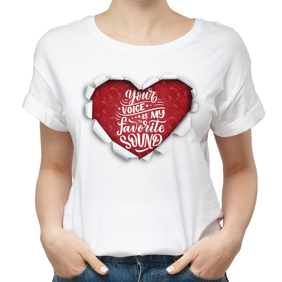 Valentines Your Voice Is My Favorite Voice Funny Tshirt