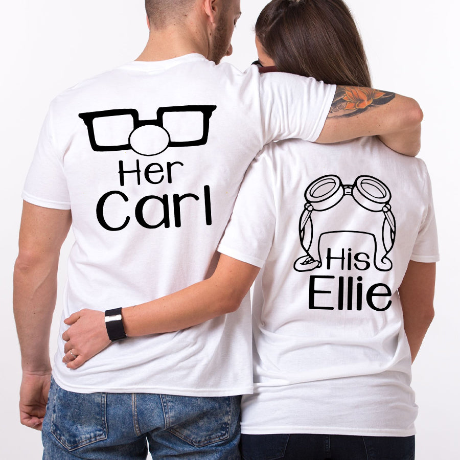 Valentines Her Carl His Ellie Couple Funny T Shirt