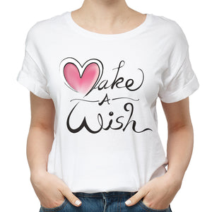Valentines Make A Wish Funny T Shirt