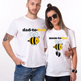 Valentines Mom And Dad To Bee Couple T Shirt