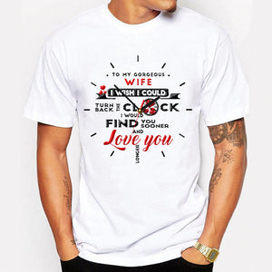 Valentines To My Wife Turn Back The Clock T Shirt