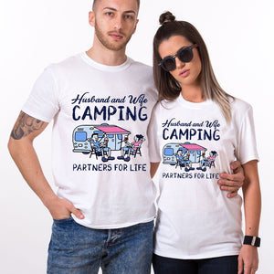 Valentines Husband Wife Camping Couple T Shirt