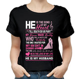 Valentines My Husband The Song Of My Heart T shirt