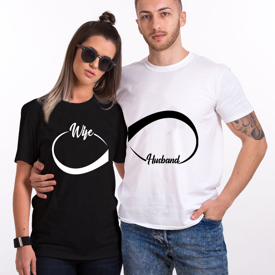 Valentines Wife Husband Couple  T shirt