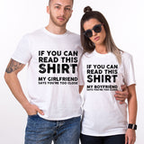 Valentine My Boyfriend Says You're Too Close Funny Couple T shirt
