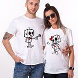 Valentine Funny Couple T shirt