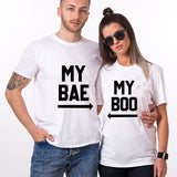 Valentine My Bae My Boo Couple T shirt