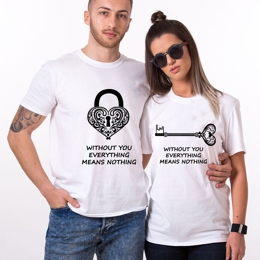 Valentine Lock And Key Couple T shirt