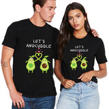 Valentine Let's Avocuddle Couple T shirt