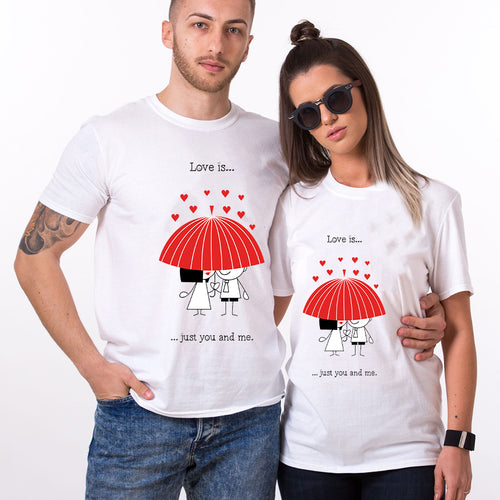 Valentine Love Is Just You And Me Couple T shirt