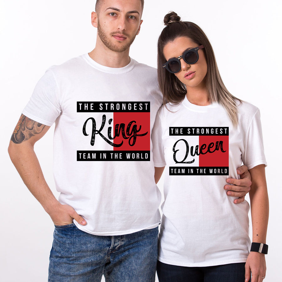 Valentine King And Queen Couple T shirt