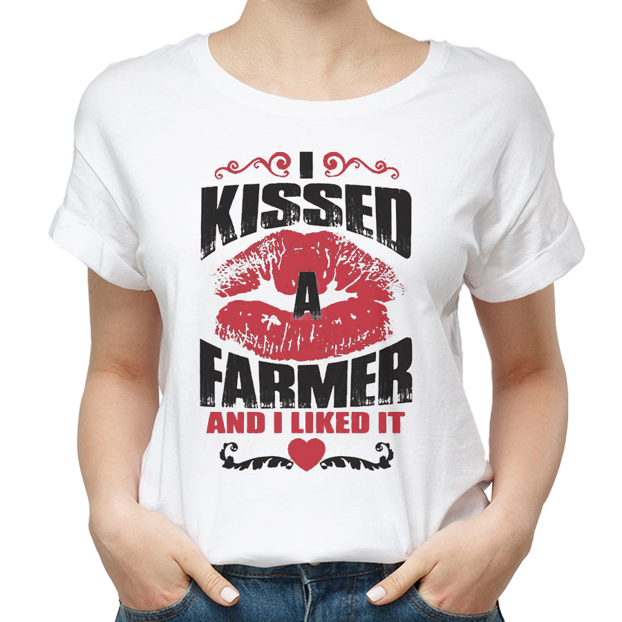 Valentine I Kissed A Farmer And I Liked It T shirt