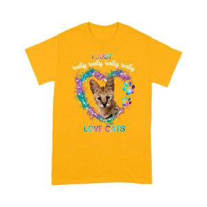 I Just Really Love Savannah Cats T Shirt Funny