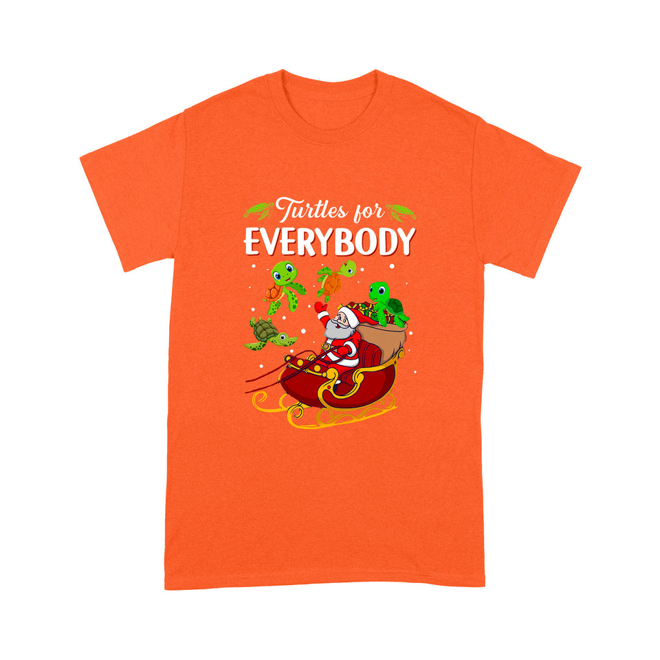 Christmas Turtle For Everybody T Shirt