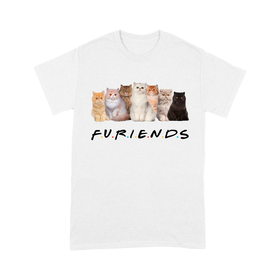 Friends Persian Cat T Shirt Funny