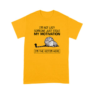 I'm Not Lazy Someone Just Stole My Motivation Cat T Shirt Funny