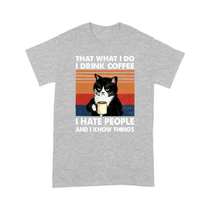 That's What I Do Black Cat T Shirt Funny