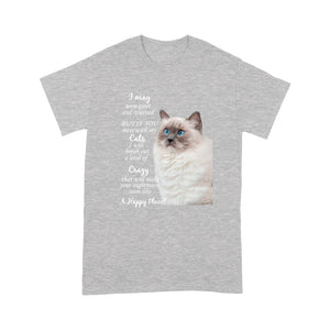 Mess With My Ragdoll Cat T Shirt Funny