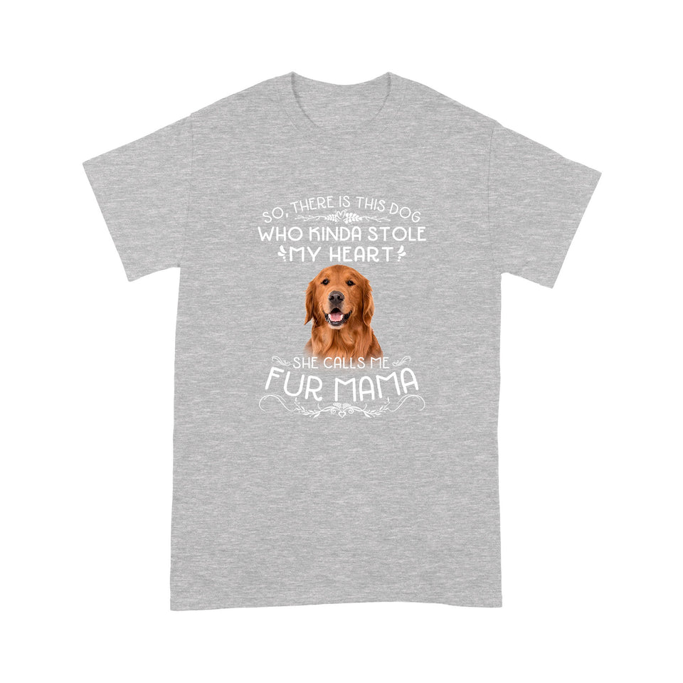 Golden Retriever Fur Mama T shirt