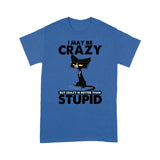 Crazy Cat T Shirt Funny
