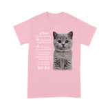 Always Be By Your Side Cat British Shorthair T Shirt Funny