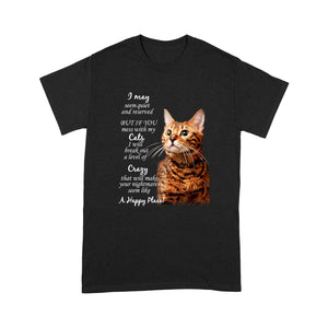 Mess With My Bengal Cat T Shirt Funny