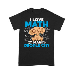 I Love Math Elephant T Shirt