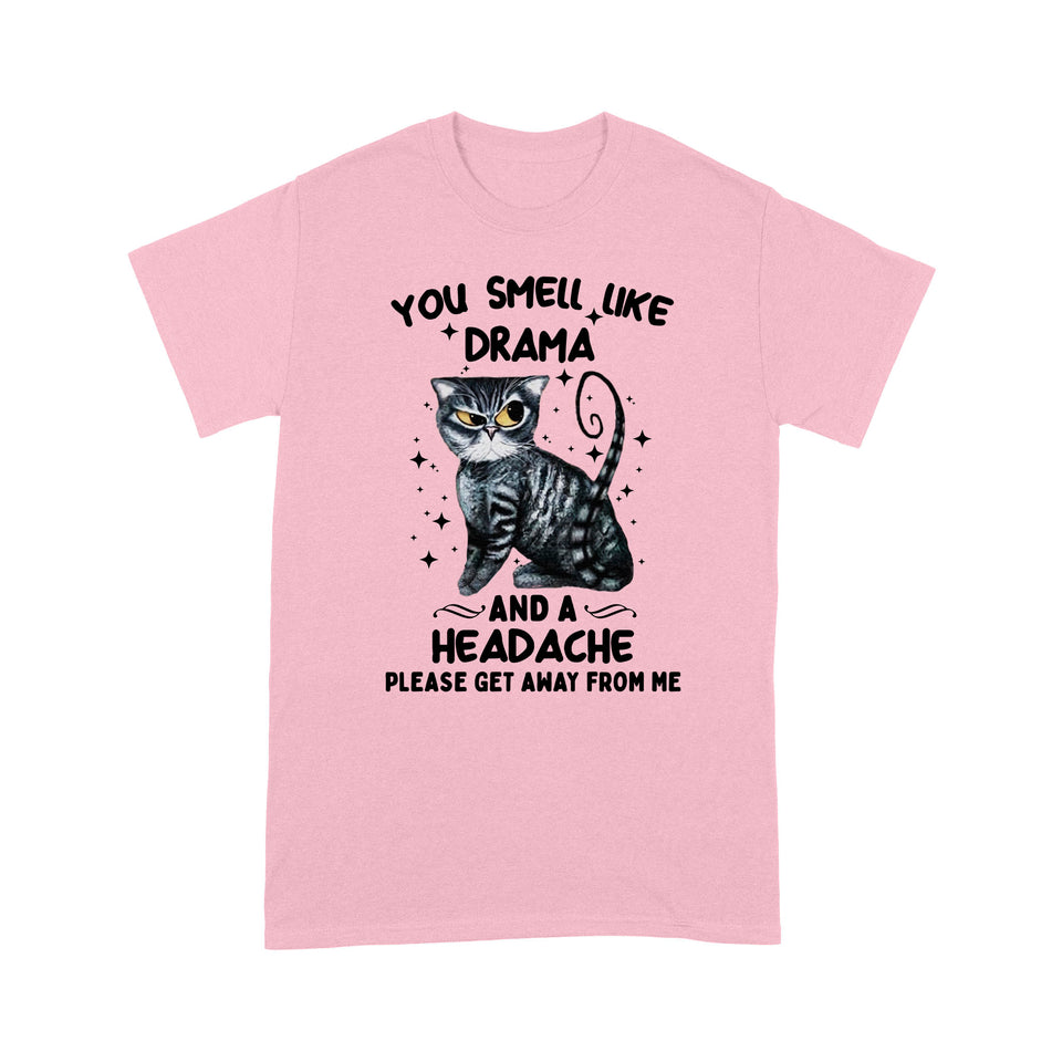 Black Cat You Smell Like Drama T Shirt Funny
