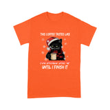 Black Cat And Coffee T Shirt Funny