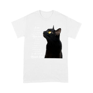 Black Cat Purple T Shirt