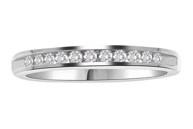 LADIES BAND 1/6 CT ROUND DIAMOND 14K WHITE GOLD