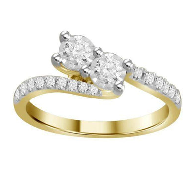 0.50CT RD DIAMONDS SET IN 14KT YELLOW GOLD LADIES RING
