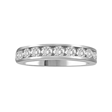 LADIES BAND 3/4 CT ROUND DIAMOND 14K WHITE GOLD