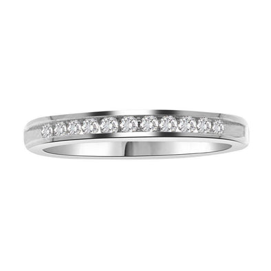 LADIES BAND 1/2 CT ROUND DIAMOND 14K WHITE GOLD
