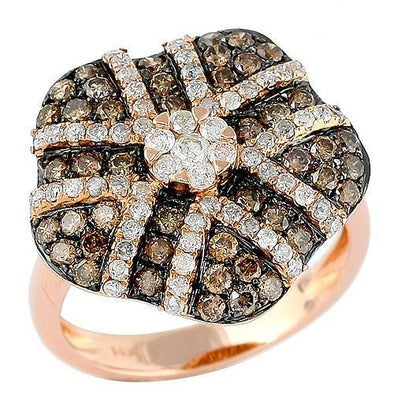 14KR 1.58CTW CHAMPAGE DIAMOND ROSE GOLD RING