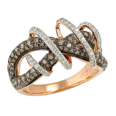 14KR 1.00CTW CHAMPAGNE DIAMOND RING