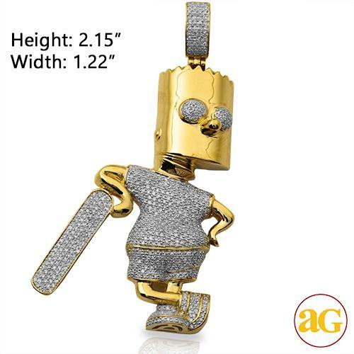 10KY 1.25CTW DIAMOND CARTOON CHARACTER PENDANT