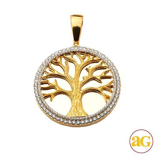 10KY 1.75CTW DIAMOND 'TREE OF LIFE' PENDANT - MIRR