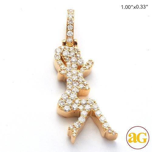 14KY 0.40CTW DIAMOND DANCING LADY PENDANT
