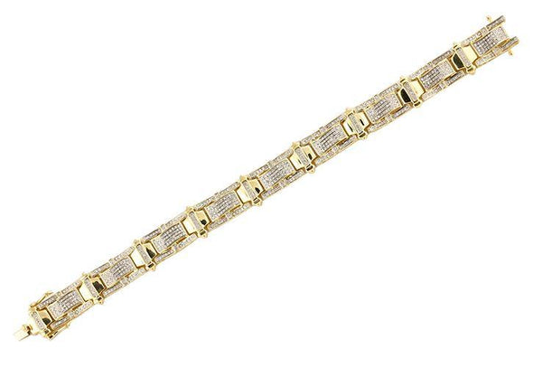 10KY 1.70CTW DIAMOND MEN'S BRACELET- 8.5""