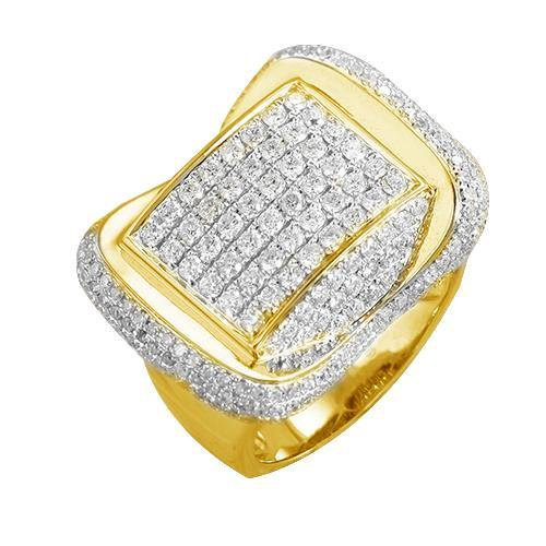 10KY 2.50CTW DIAMOND MENS RING
