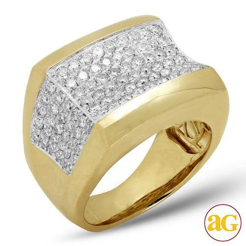 14KY 2.25CTW DIAMOND MENS RING