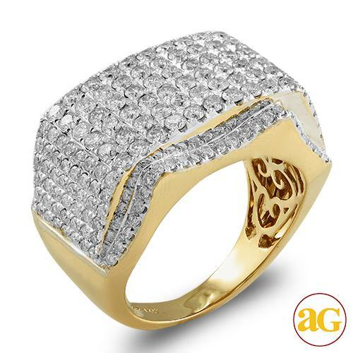 14KY 3.35CTW DIAMOND MENS RING